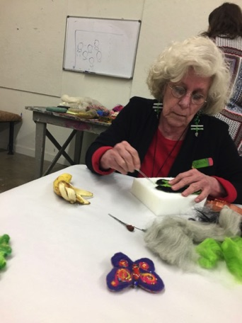 Dawn Truby creates beauty while felting