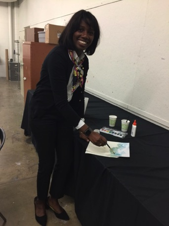 Kula Moore, our keynote speaker, enjoyed participating in a breakout session which gave her an opportunity to paint